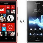 Nokia Lumia 720 vs Sony Xperia acro S