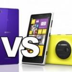 Nokia Lumia 1020 vs Sony Xperia Z1